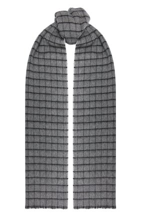 Мужской кашемировый шарф ANDREA CAMPAGNA светло-серого цвета, арт. 632393 | Фото 1 (Материал: Шерсть, Кашемир; Кросс-КТ: кашемир)