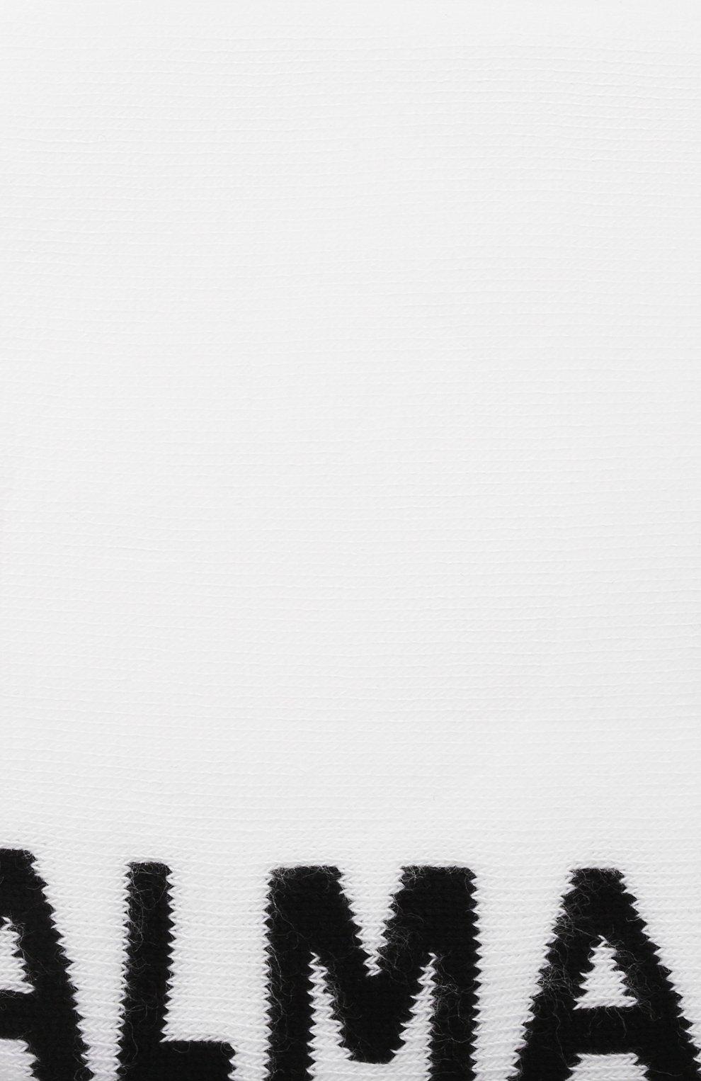 Мужские хлопковые носки BALMAIN белого цвета, арт. BUV060030 | Фото 2 (Кросс-КТ: бельё; Материал внешний: Хлопок)