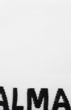 Мужские хлопковые носки BALMAIN белого цвета, арт. BUV060030 | Фото 2 (Материал внешний: Хлопок; Кросс-КТ: бельё)