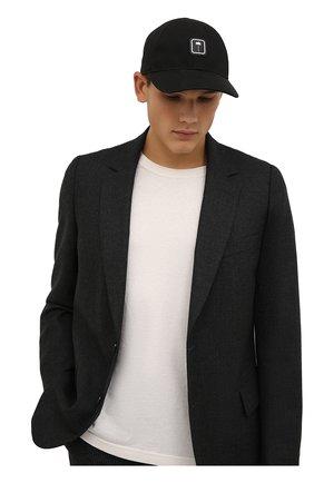 Мужской хлопковая бейсболка PALM ANGELS черного цвета, арт. PMLB049F21FAB0021001 | Фото 2 (Материал: Текстиль, Хлопок)