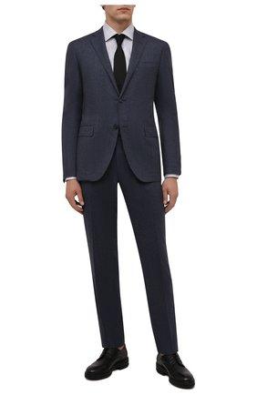 Мужская хлопковая сорочка ETON серого цвета, арт. 1000 02478 | Фото 2 (Рукава: Длинные; Длина (для топов): Стандартные; Материал внешний: Хлопок; Случай: Формальный; Принт: Клетка; Рубашки М: Slim Fit; Манжеты: На пуговицах; Стили: Классический; Воротник: Акула)