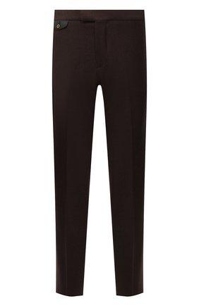 Мужские шерстяные брюки ZILLI коричневого цвета, арт. M0W-40-38P-F6415/0001 | Фото 1 (Материал подклада: Купро; Материал внешний: Шерсть; Случай: Формальный; Стили: Классический; Длина (брюки, джинсы): Стандартные)