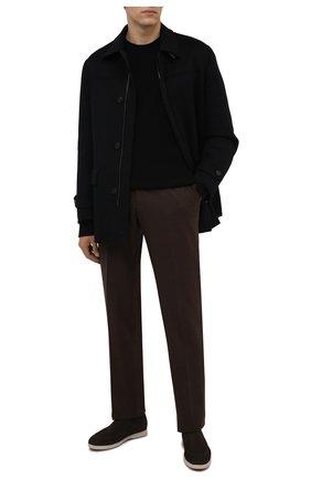 Мужские шерстяные брюки ZILLI коричневого цвета, арт. M0W-40-38P-F6415/0001 | Фото 2 (Материал подклада: Купро; Материал внешний: Шерсть; Случай: Формальный; Стили: Классический; Длина (брюки, джинсы): Стандартные)
