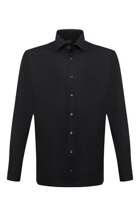 Мужская хлопковая сорочка VAN LAACK черного цвета, арт. RIVARA-SF/150185 | Фото 1 (Материал внешний: Хлопок; Случай: Формальный; Рукава: Длинные; Принт: Однотонные; Рубашки М: Slim Fit; Манжеты: На пуговицах; Стили: Классический; Воротник: Акула; Длина (для топов): Стандартные)