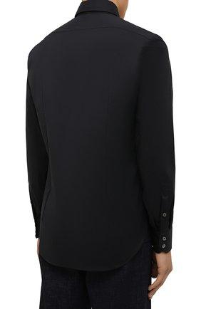 Мужская хлопковая сорочка VAN LAACK черного цвета, арт. RIVARA-SF/150185 | Фото 4 (Манжеты: На пуговицах; Рукава: Длинные; Воротник: Акула; Длина (для топов): Стандартные; Рубашки М: Slim Fit; Материал внешний: Хлопок; Стили: Классический; Случай: Формальный; Принт: Однотонные)