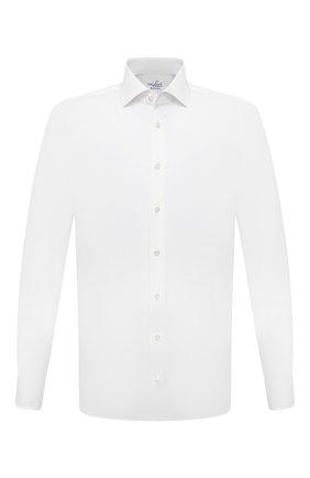 Мужская хлопковая сорочка VAN LAACK белого цвета, арт. RIVARA-LTF/161914 | Фото 1 (Материал внешний: Хлопок; Случай: Формальный; Рукава: Длинные; Принт: Однотонные; Рубашки М: Slim Fit; Манжеты: На пуговицах; Стили: Классический; Воротник: Акула; Длина (для топов): Стандартные)