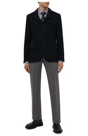 Мужская хлопковая сорочка VAN LAACK темно-синего цвета, арт. RET-TF02/156539 | Фото 2 (Материал внешний: Хлопок; Случай: Формальный; Рукава: Длинные; Принт: Клетка; Рубашки М: Regular Fit; Манжеты: На пуговицах; Стили: Классический; Воротник: Кент; Длина (для топов): Стандартные)