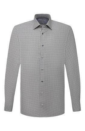 Мужская хлопковая сорочка VAN LAACK серого цвета, арт. RET-TF02/156539 | Фото 1 (Материал внешний: Хлопок; Случай: Формальный; Рукава: Длинные; Принт: Клетка; Рубашки М: Regular Fit; Манжеты: На пуговицах; Стили: Классический; Воротник: Кент; Длина (для топов): Стандартные)