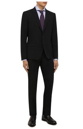 Мужская хлопковая сорочка VAN LAACK голубого цвета, арт. RES0-SF/162583 | Фото 2 (Материал внешний: Хлопок; Случай: Формальный; Рукава: Длинные; Принт: Однотонные; Рубашки М: Slim Fit; Манжеты: На пуговицах; Стили: Классический; Воротник: Акула; Длина (для топов): Стандартные)