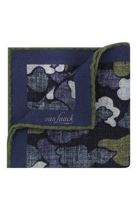 Мужской шерстяной платок VAN LAACK темно-синего цвета, арт. M-LE0N/Z10352 | Фото 1 (Материал: Шерсть)