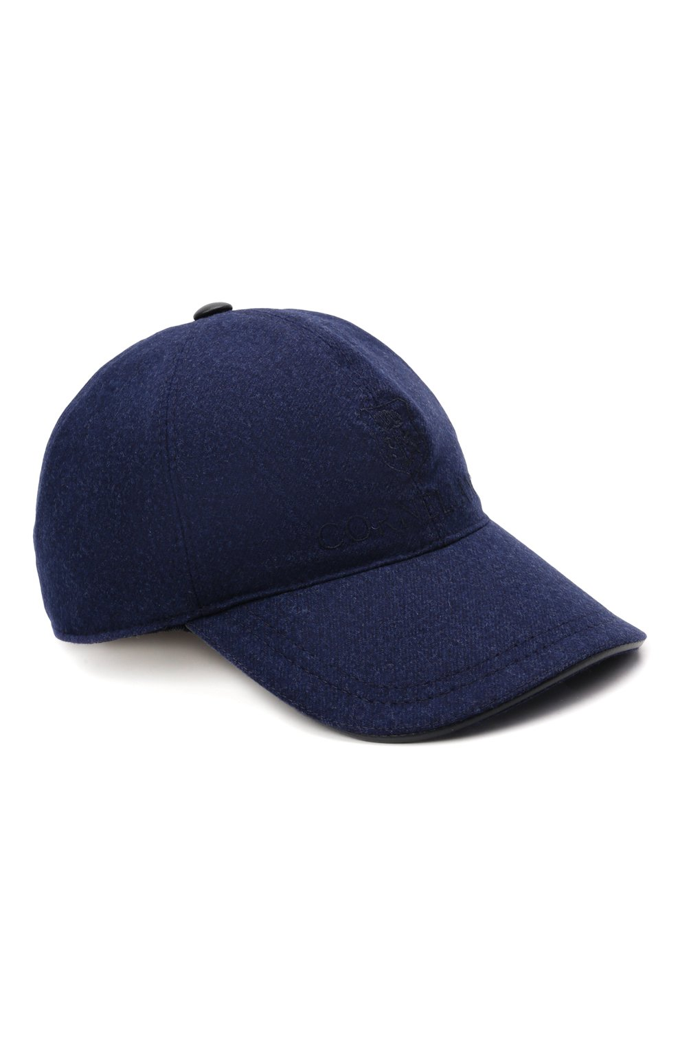 Мужской шерстяная бейсболка CORNELIANI синего цвета, арт. 880332-1829207/00 | Фото 1 (Материал: Шерсть)
