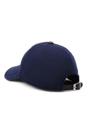 Мужской шерстяная бейсболка CORNELIANI синего цвета, арт. 880332-1829207/00 | Фото 3 (Материал: Шерсть)
