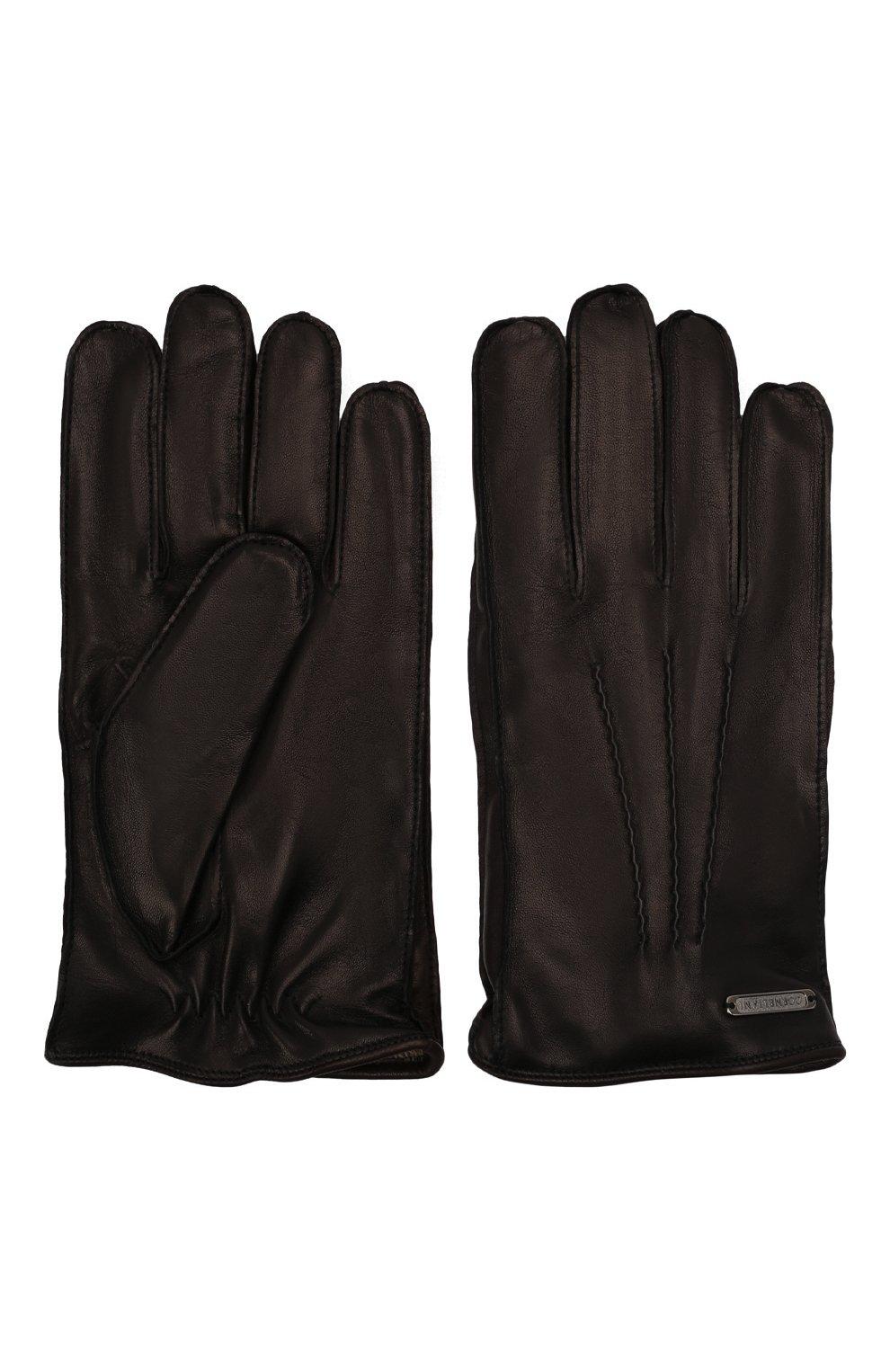 Мужские кожаные перчатки CORNELIANI черного цвета, арт. 88Q318-1820590/00 | Фото 3 (Мужское Кросс-КТ: Кожа и замша)