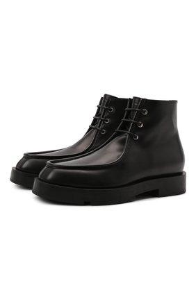 Мужские кожаные ботинки GIVENCHY черного цвета, арт. BH6037H0Z9   Фото 1 (Материал внутренний: Натуральная кожа; Подошва: Плоская; Мужское Кросс-КТ: Ботинки-обувь)