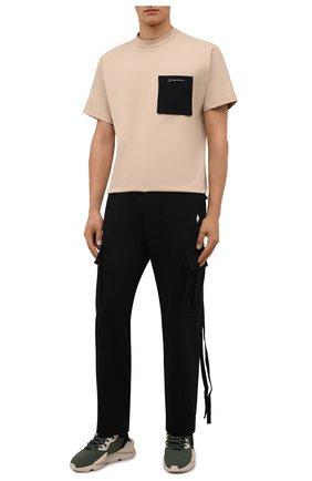 Мужские текстильные кроссовки kaiwa Y-3 хаки цвета, арт. GZ9143/M | Фото 2 (Материал внутренний: Натуральная кожа, Текстиль; Материал внешний: Текстиль; Подошва: Массивная; Стили: Спорт)