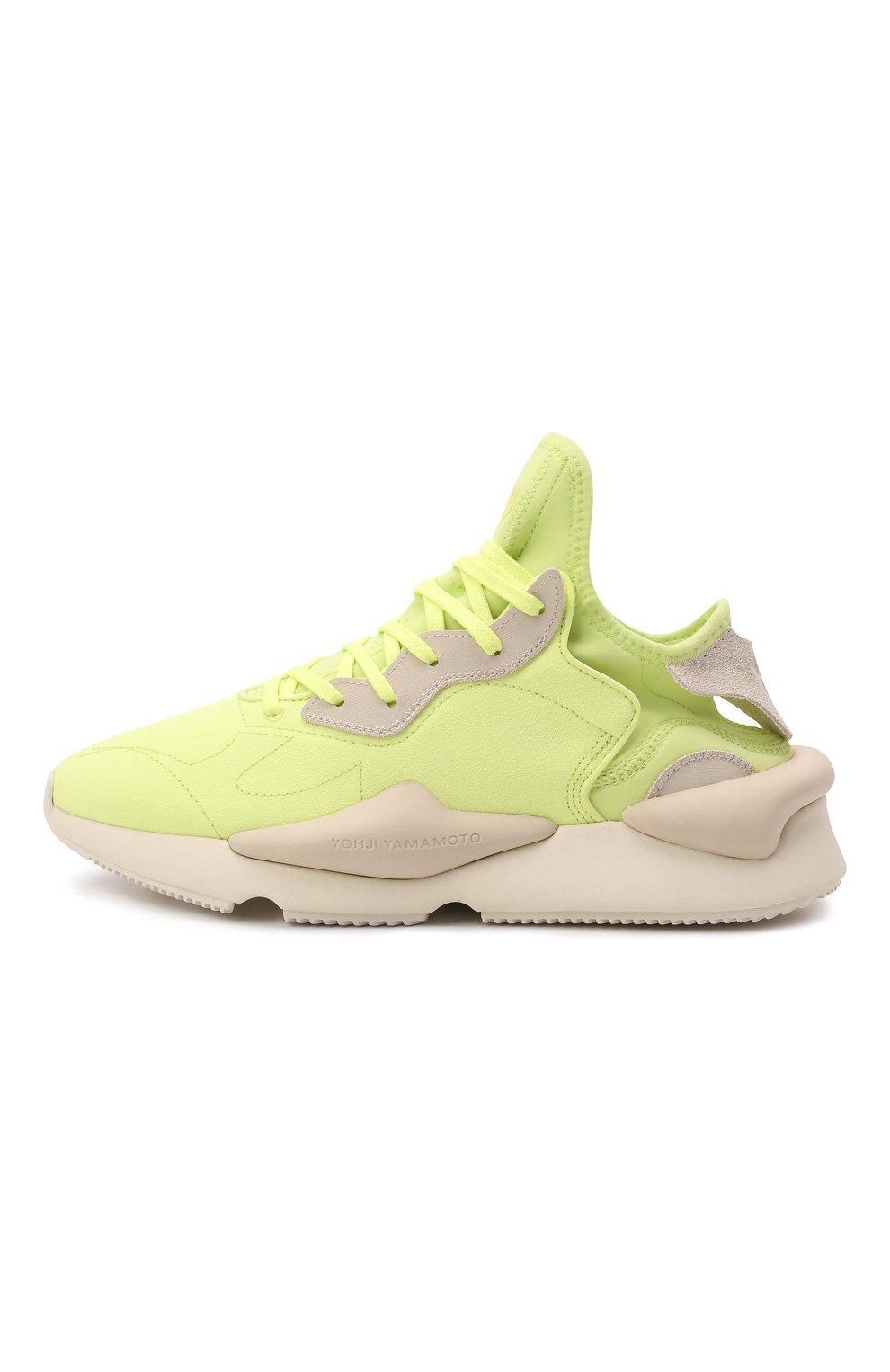 Мужские текстильные кроссовки kaiwa Y-3 светло-зеленого цвета, арт. GZ9144/M | Фото 3 (Материал внешний: Текстиль; Материал внутренний: Натуральная кожа, Текстиль; Подошва: Массивная; Стили: Спорт)