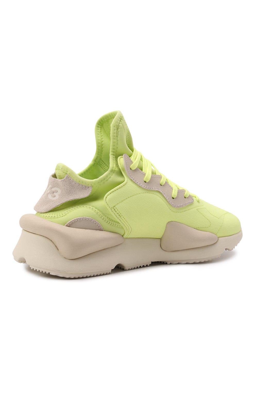 Мужские текстильные кроссовки kaiwa Y-3 светло-зеленого цвета, арт. GZ9144/M | Фото 4 (Материал внешний: Текстиль; Материал внутренний: Натуральная кожа, Текстиль; Подошва: Массивная; Стили: Спорт)