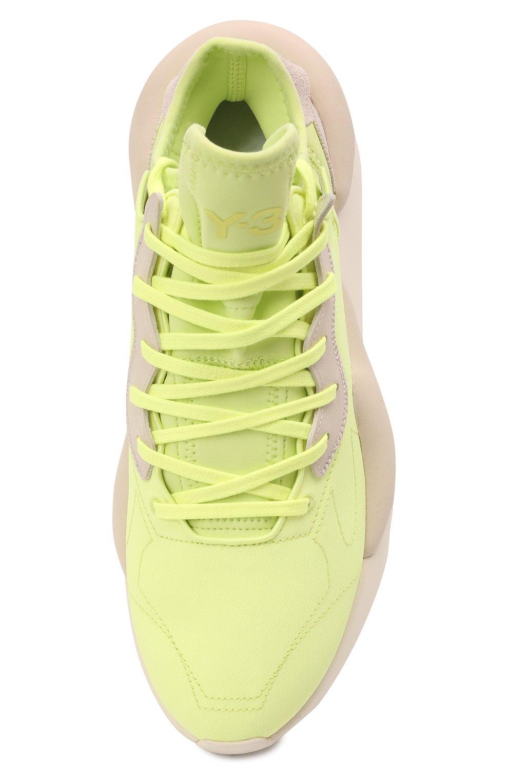 Мужские текстильные кроссовки kaiwa Y-3 светло-зеленого цвета, арт. GZ9144/M | Фото 5 (Материал внешний: Текстиль; Материал внутренний: Натуральная кожа, Текстиль; Подошва: Массивная; Стили: Спорт)