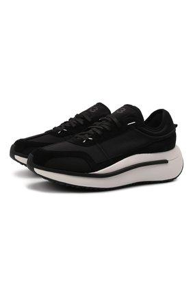 Мужские комбинированные кроссовки ajatu run Y-3 черного цвета, арт. GZ9157/M | Фото 1 (Материал внутренний: Натуральная кожа, Текстиль; Материал внешний: Текстиль; Стили: Спорт; Подошва: Массивная)