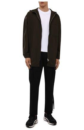 Мужские комбинированные кроссовки ajatu run Y-3 черного цвета, арт. GZ9157/M | Фото 2 (Материал внутренний: Натуральная кожа, Текстиль; Материал внешний: Текстиль; Стили: Спорт; Подошва: Массивная)