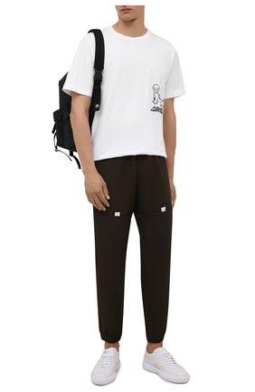 Мужская хлопковая футболка DIESEL белого цвета, арт. A03306/0JAYF | Фото 2 (Длина (для топов): Стандартные; Рукава: Короткие; Материал внешний: Хлопок; Принт: С принтом; Стили: Гранж)