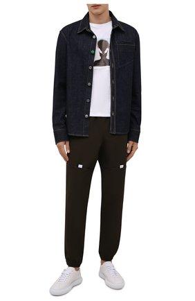 Мужская хлопковая футболка DIESEL белого цвета, арт. A03375/0CATM | Фото 2 (Материал внешний: Хлопок; Принт: С принтом; Рукава: Короткие; Стили: Гранж; Длина (для топов): Стандартные)