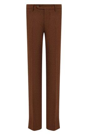 Мужские шерстяные брюки BERWICH светло-коричневого цвета, арт. SC/1 ALC/AN1214   Фото 1 (Материал подклада: Купро; Материал внешний: Шерсть; Случай: Повседневный; Стили: Кэжуэл; Длина (брюки, джинсы): Стандартные)