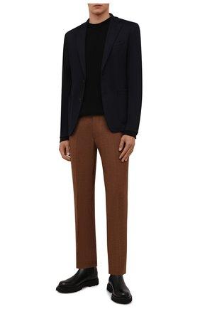 Мужские шерстяные брюки BERWICH светло-коричневого цвета, арт. SC/1 ALC/AN1214   Фото 2 (Материал подклада: Купро; Материал внешний: Шерсть; Случай: Повседневный; Стили: Кэжуэл; Длина (брюки, джинсы): Стандартные)