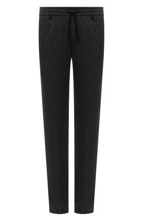 Мужские брюки из вискозы BERWICH темно-серого цвета, арт. SPIAGGIA RETR0/IW1077X | Фото 1 (Материал внешний: Вискоза; Случай: Повседневный; Стили: Кэжуэл; Длина (брюки, джинсы): Стандартные)