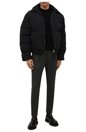 Мужские брюки из вискозы BERWICH темно-серого цвета, арт. SPIAGGIA RETR0/IW1077X | Фото 2 (Материал внешний: Вискоза; Случай: Повседневный; Стили: Кэжуэл; Длина (брюки, джинсы): Стандартные)