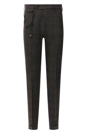 Мужские шерстяные брюки BERWICH коричневого цвета, арт. VULCAN0Z/AN1311   Фото 1 (Материал подклада: Купро; Материал внешний: Шерсть; Случай: Повседневный; Стили: Кэжуэл; Длина (брюки, джинсы): Стандартные)