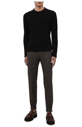 Мужские шерстяные брюки BERWICH коричневого цвета, арт. VULCAN0Z/AN1311   Фото 2 (Материал подклада: Купро; Материал внешний: Шерсть; Случай: Повседневный; Стили: Кэжуэл; Длина (брюки, джинсы): Стандартные)