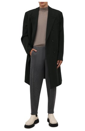 Мужские кашемировые брюки ZEGNA COUTURE серого цвета, арт. 260N18/73NHN2 | Фото 2 (Материал внешний: Шерсть, Кашемир; Длина (брюки, джинсы): Стандартные; Случай: Повседневный; Стили: Кэжуэл)