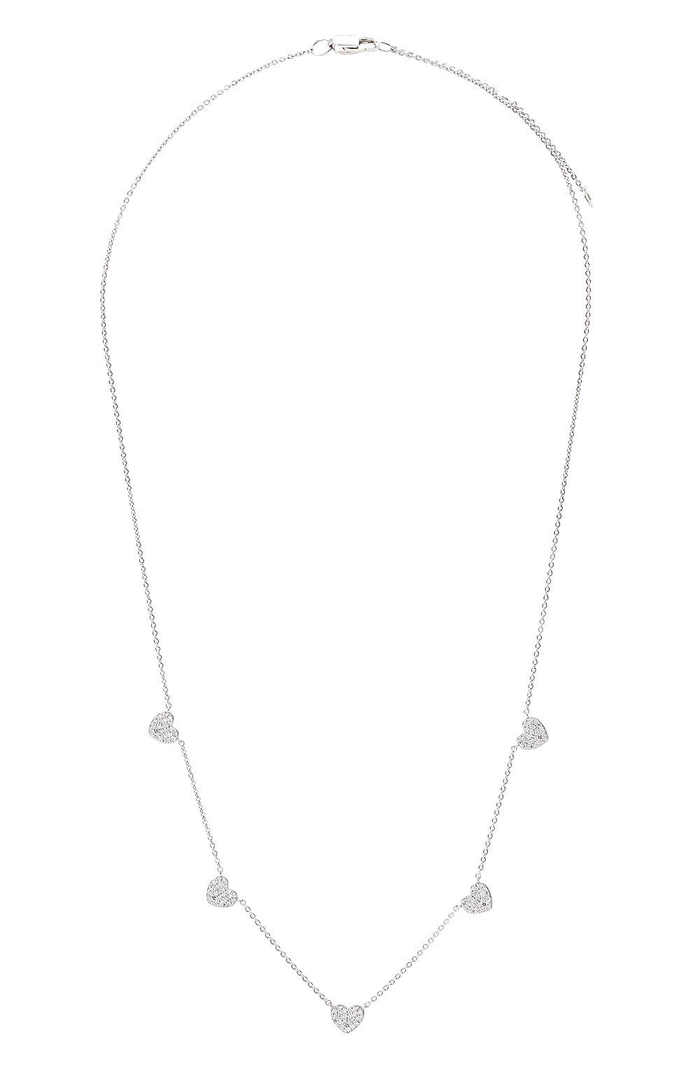 Женское колье J-POINT серебряного цвета, арт. ИПГ857.47.220621.13W | Фото 1 (Материал: Золото)