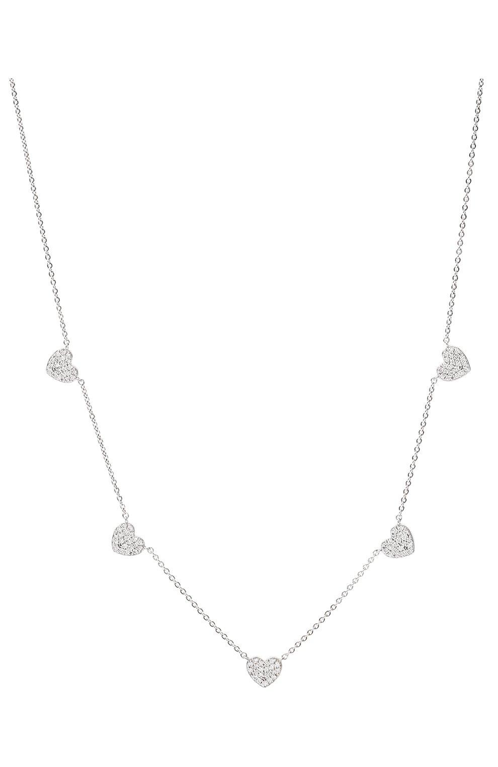 Женское колье J-POINT серебряного цвета, арт. ИПГ857.47.220621.13W | Фото 3 (Материал: Золото)