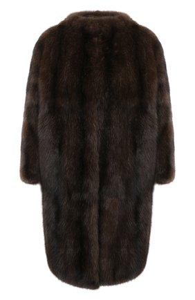 Женская шуба из меха соболя VALENTINO темно-коричневого цвета, арт. WF3FAN323AF   Фото 1 (Рукава: 3/4; Материал подклада: Шелк; Длина (верхняя одежда): До середины бедра; Стили: Гламурный; Женское Кросс-КТ: Мех)