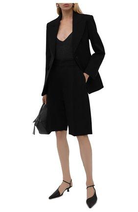 Женский шерстяной жакет ALEXANDER MCQUEEN черного цвета, арт. 677630/QJACA | Фото 2 (Материал подклада: Купро; Длина (для топов): Стандартные; Рукава: Длинные; Материал внешний: Шерсть; Стили: Гламурный; Случай: Повседневный; Женское Кросс-КТ: Жакет-одежда; 1-2-бортные: Однобортные)
