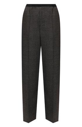 Женские шерстяные брюки BALENCIAGA темно-серого цвета, арт. 675482/TLT10 | Фото 1 (Материал внешний: Шерсть; Длина (брюки, джинсы): Стандартные; Стили: Гламурный; Женское Кросс-КТ: Брюки-одежда; Силуэт Ж (брюки и джинсы): Широкие)