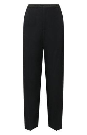 Женские брюки из вискозы BALENCIAGA черного цвета, арт. 675482/TJ025 | Фото 1 (Длина (брюки, джинсы): Удлиненные; Материал внешний: Вискоза; Стили: Спорт-шик; Женское Кросс-КТ: Брюки-одежда; Силуэт Ж (брюки и джинсы): Широкие)