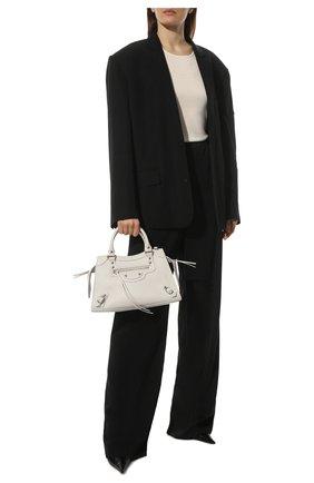 Женские брюки из вискозы BALENCIAGA черного цвета, арт. 675482/TJ025 | Фото 2 (Длина (брюки, джинсы): Удлиненные; Материал внешний: Вискоза; Стили: Спорт-шик; Женское Кросс-КТ: Брюки-одежда; Силуэт Ж (брюки и джинсы): Широкие)