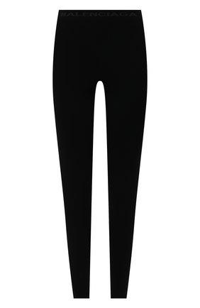 Женские леггинсы BALENCIAGA черного цвета, арт. 675367/T5159 | Фото 1 (Материал внешний: Синтетический материал; Длина (брюки, джинсы): Стандартные; Стили: Спорт-шик; Женское Кросс-КТ: Леггинсы-одежда)