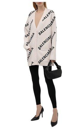 Женские леггинсы BALENCIAGA черного цвета, арт. 675367/T5159 | Фото 2 (Материал внешний: Синтетический материал; Длина (брюки, джинсы): Стандартные; Стили: Спорт-шик; Женское Кросс-КТ: Леггинсы-одежда)