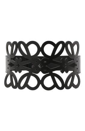 Женский кожаный пояс LOEWE черного цвета, арт. S540Y21L12   Фото 1 (Кросс-КТ: Широкие)