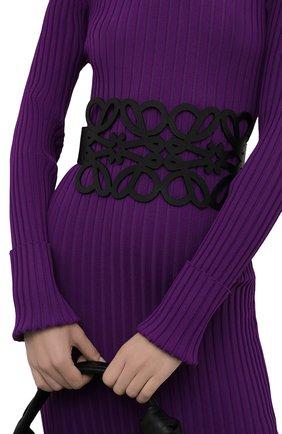Женский кожаный пояс LOEWE черного цвета, арт. S540Y21L12   Фото 2 (Кросс-КТ: Широкие)
