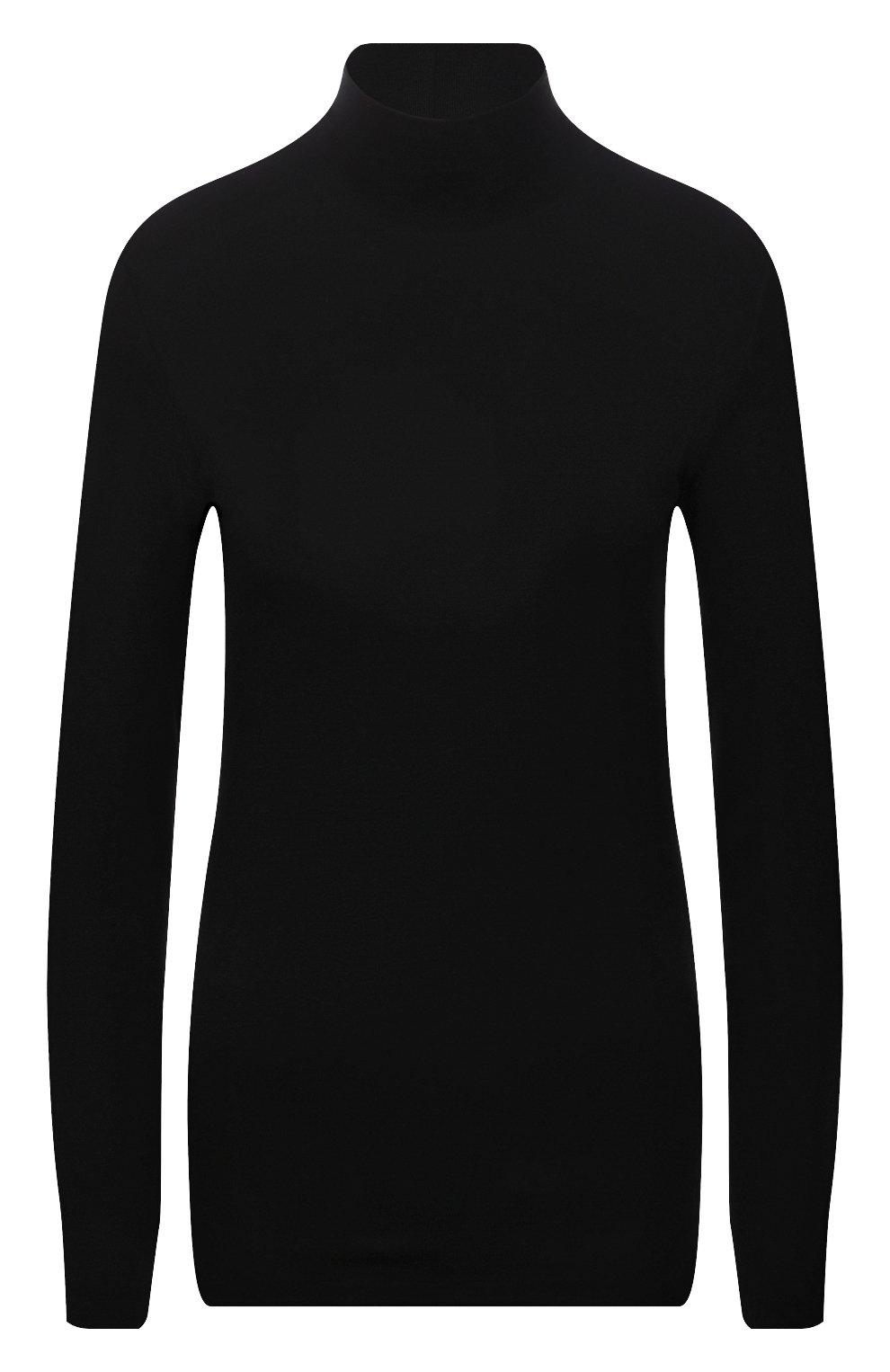 Женская водолазка THE ROW черного цвета, арт. 5847K386 | Фото 1 (Женское Кросс-КТ: Водолазка-одежда; Рукава: Длинные; Длина (для топов): Стандартные; Стили: Минимализм; Материал внешний: Растительное волокно)