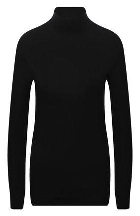 Женская водолазка THE ROW черного цвета, арт. 5847K386   Фото 1 (Рукава: Длинные; Материал внешний: Растительное волокно; Длина (для топов): Стандартные; Стили: Минимализм; Женское Кросс-КТ: Водолазка-одежда)