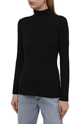 Женская водолазка THE ROW черного цвета, арт. 5847K386 | Фото 3 (Женское Кросс-КТ: Водолазка-одежда; Рукава: Длинные; Длина (для топов): Стандартные; Стили: Минимализм; Материал внешний: Растительное волокно)