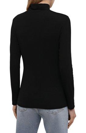 Женская водолазка THE ROW черного цвета, арт. 5847K386 | Фото 4 (Женское Кросс-КТ: Водолазка-одежда; Рукава: Длинные; Длина (для топов): Стандартные; Стили: Минимализм; Материал внешний: Растительное волокно)