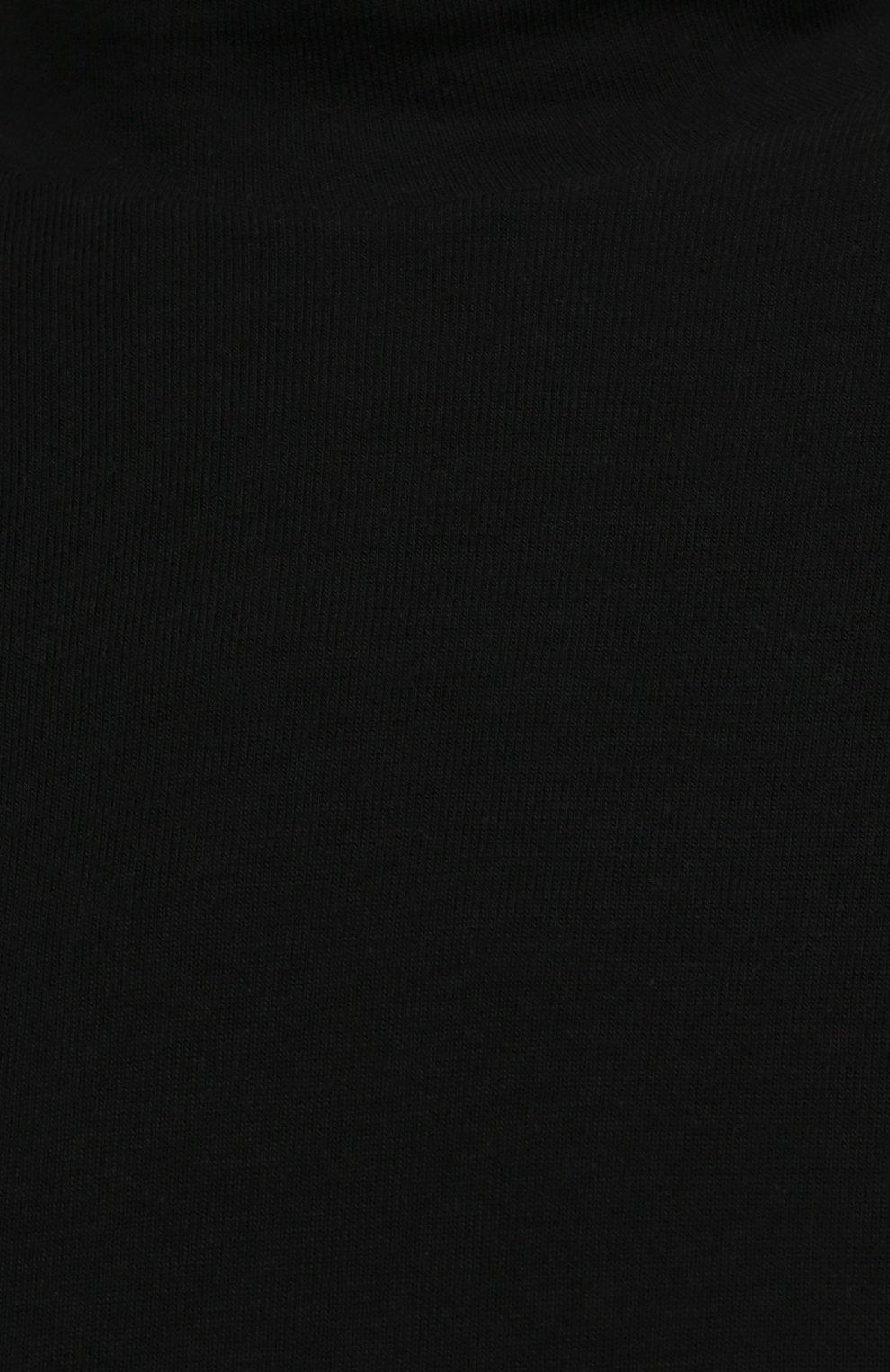 Женская водолазка THE ROW черного цвета, арт. 5847K386 | Фото 5 (Женское Кросс-КТ: Водолазка-одежда; Рукава: Длинные; Длина (для топов): Стандартные; Стили: Минимализм; Материал внешний: Растительное волокно)