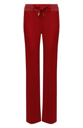 Женские брюки из вискозы DOLCE & GABBANA красного цвета, арт. FTB7NT/GDP69 | Фото 1 (Длина (брюки, джинсы): Удлиненные; Материал внешний: Вискоза; Стили: Спорт-шик; Кросс-КТ: Трикотаж; Женское Кросс-КТ: Брюки-одежда; Силуэт Ж (брюки и джинсы): Расклешенные)
